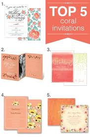 coral wedding invitations top five coral wedding invitations