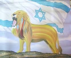 Sri Lanka Flag Lion Lion Of Judah Roars Over Israel Hand Painted Silk Worship Flag