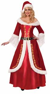 christmas costume santa mrs claus deluxe woman christmas costume 125 99 the