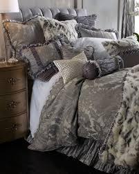 Faux Fur Duvet Cover Queen Penthouse Suite Faux Fur Throw With Shirred Velvet Edge
