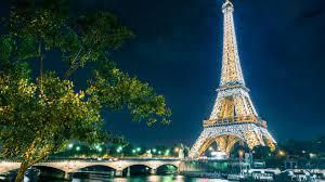 paris at night starry night sky above the eiffel tower