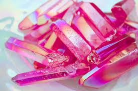 large drilled rose aura quartz crystal point rose aura crystal 9 99