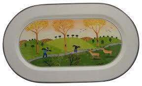 villeroy boch design naif 15 oval serving platter traditional