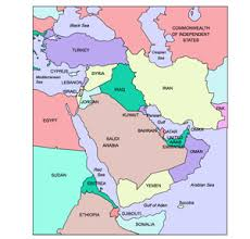 middle east map with countries middle east regional powerpoint map countries maps for design