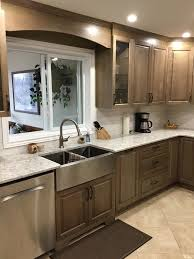 are brown kitchen cabinets outdated before and after small kitchen transformation ottawa