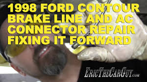 1998 ford contour brake line u0026 ac connector repair fixing it
