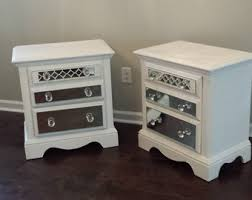 White Dresser And Nightstand Set Mirrored Nightstand Set White With Trim Glamorous