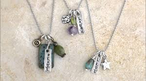 personalized charm necklaces sted charm necklace in sterling silver personalized with names