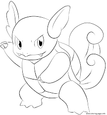 008 wartortel pokemon coloring pages printable