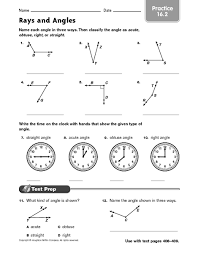 rays and angles practice 16 2 4th 6th grade worksheet lesson