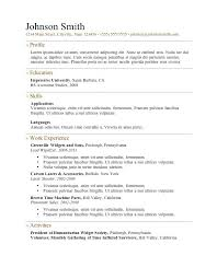 resume basic resume template open office online free awesome