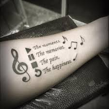 simple calf tattoos 100 music tattoo designs for music lovers music tattoo designs