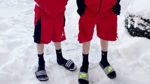kids wearing shorts in winter is it ok today