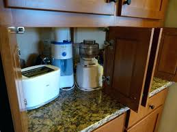 kitchen cabinet appliance garage kitchen cabinet appliance garage appliance storage ideas garage
