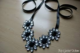 diy jewelry statement necklace images Easy diy rhinestone necklace no jewelry skills required my jpg