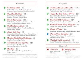martini bar menu menu westbound la