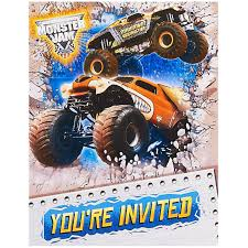 prince george monster truck show birthday party invitations u0026 gift wrap birthdayexpress com