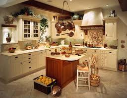 country cottage kitchen decor wooden solid furniture rectangular