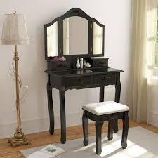 Glass Vanity Table With Mirror Vanities U0026 Vanity Benches Amazon Com
