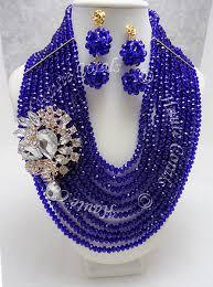 crystal rhinestone statement necklace images Nkiruka cobolt blue crystal beads rhinestone statement necklace jpg
