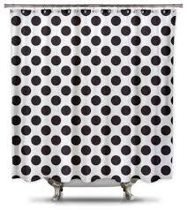Grey And White Polka Dot Curtains Polka Dot Fabric Shower Curtain White And Black Contemporary