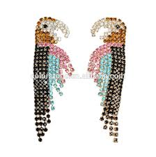 funky earrings funky earrings for parrot rhinestone earring
