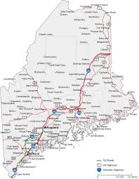 Maine State Map by Maine State Road Map With Census Information