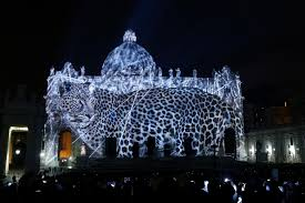 vatican light show highlights environmental message
