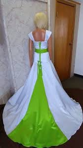 light green wedding dress white and lime green wedding dresses