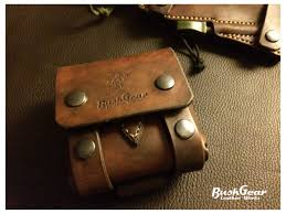 leather pouch survival kit bushcraft molle small