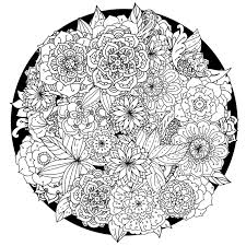 mandala coloring pages flower mandala coloring pages coloringsuite