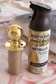 diy spray paint door knob makeover handle the heat