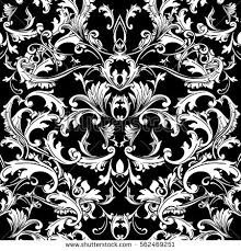 baroque seamless pattern background wallpaper illustration stock
