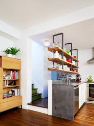 shelving hanging from the ceiling this home in brooklyn gets an