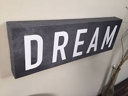 Home Decor Wall Signs by Dream Wall Art Canvas Wall Decor Home Decor Canvas Art Dream