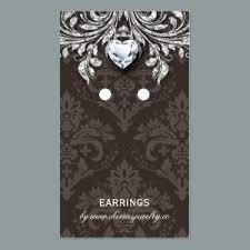 salon business cards earring display cards vintage damask