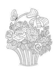flower basket drawing floweryweb dibujos varios pinterest