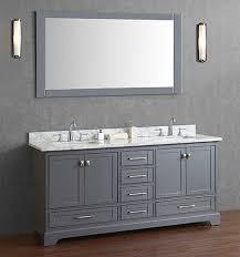 anele 72 inch gray double sink bathroom vanity set with mirror