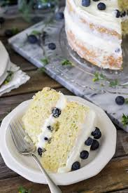 lemon zucchini layer cake with blueberries sugar spun run