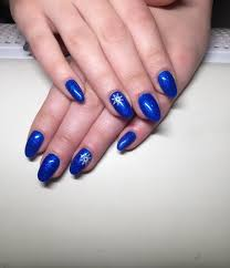 fabulous blue nails with star design picsmine