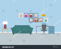 dorm room interior design vector illustration stock vector