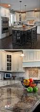 Kitchens With Granite Countertops White Kitchen Off White Cabinets Sherwin Williams Conservative