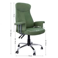 fauteuil de bureau vert fauteuil de bureau à hauteur réglable tissu vert clair neuf top