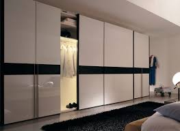Stylish Sliding Closet Doors with Mirror Bringing Charms in Interior