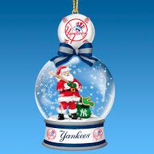 new york yankees snow globe ornament collection the danbury mint