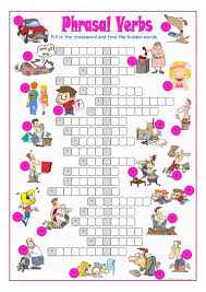40 free esl phrasal verbs worksheets for elementary a1 level