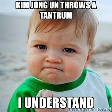 Tantrum Meme - kim jong un throws a tantrum i understand victory baby meme