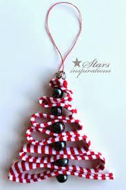 diy ribbon bead tree ornaments beesdiy