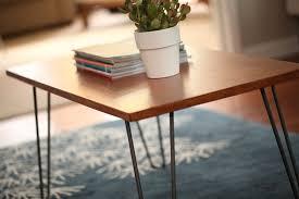 diy mid century modern coffee table how to transform a table into a mid century modern treasure kin