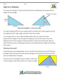 geometry formulas triangles